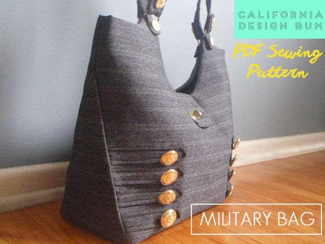 Military Handbag Sewing Pattern modern tote bag for weekend