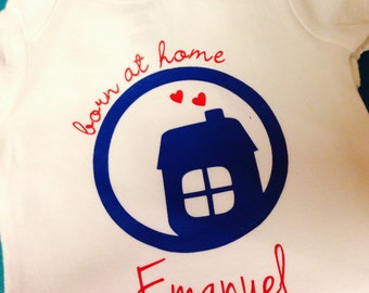 Born at Home Onesie, Natural Baby, Homebirth