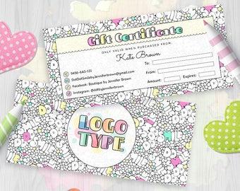 Dot Dot Smile Gift Certificate, DDS Certificate Card, Surprise Card, Gift Voucher, Gift Card, For Merchandiser