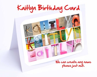 Kaitlyn  Personalised Birthday Card