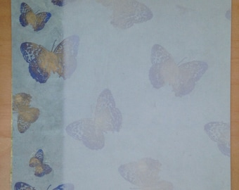 8.5x11 Butterfly Border Paper