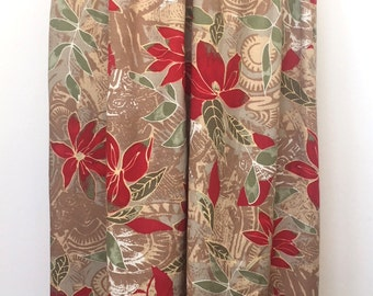 Berkertex red floral vintage skirt size 10 12