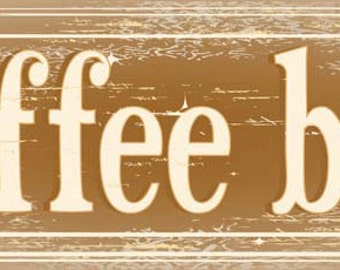 Coffee Bar Metal Sign,  Street Sign, Kitchen Décor, Café Décor  HB7674
