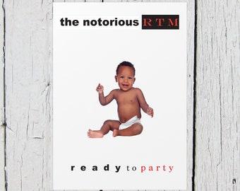Notorious B.I.G Biggie Smalls Baby Birthday Sign (Custom Order) PDF File only