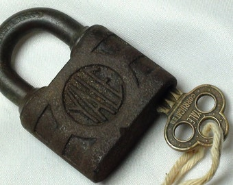 Vintage YALE lock with original key, antique locks, vintage locks, locks with keys, padlocks, lock and key, collectible locks, old lock, key