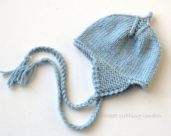 Now up to 9 years!  PDF knitting pattern- Cosy Ears Aviator hat