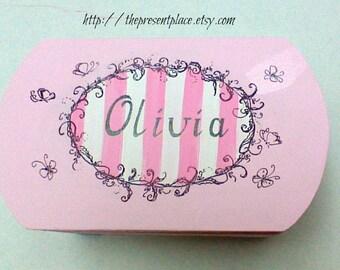 Pink,black,keepsake box,love letter,personalized gift,girl's keepsake box,toille box,toille,children memory boxes,kids box,girl's memory box