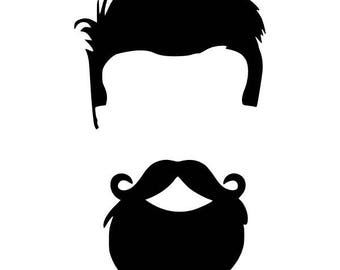 Digi-tizers Man Beard Silhouette  (SVG Studio V3 JPG)