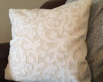 Cream|White Pillow Cover 12|16|18|20|22|24