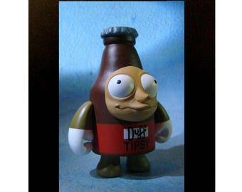 Encadré Duff ivre jouet photographie les Simpsons