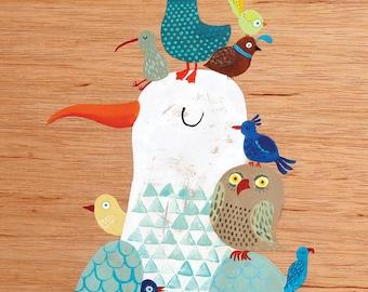 Greeting card - Bird King