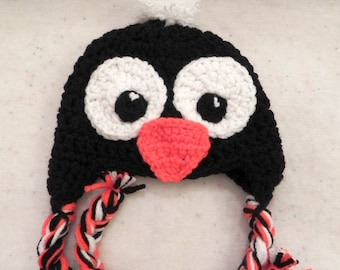 Baby Penguin Hat Choose Size up to 12 Months