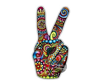 Hand Peace Sign Etsy