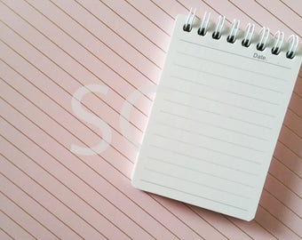 Date Memo Pad and Designer File Folder Stock Photography, Stock Photos Digital Download, Digital Paper, Scrapbook Journal Paper, Wall Art