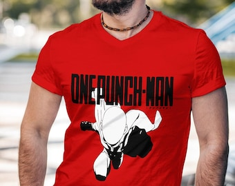 One Punch Saitama Red Shirt