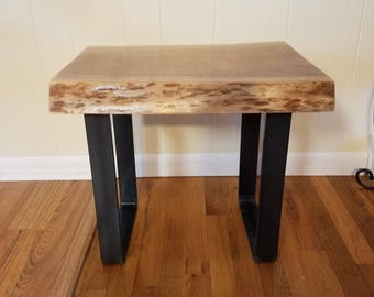 Cherry Live Edge Side Table