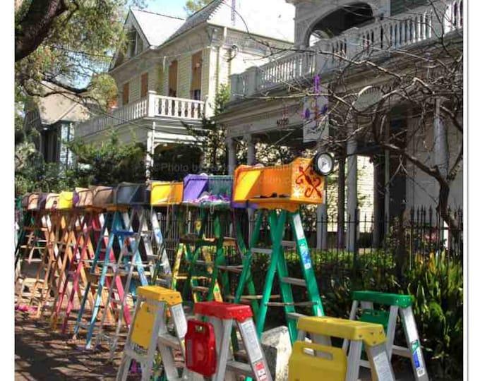 Mardi Gras Ladders Photo - New Orleans Carnival