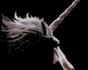 Dark Unicorn Cross Stitch - Digital Download