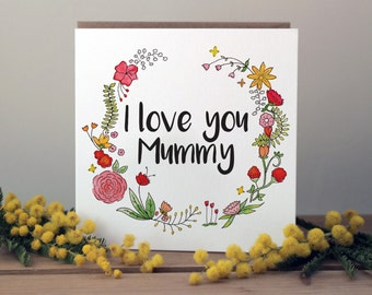 Mother's Day card for Mummy | A beautiful, floral mothers day card | Birthday card for Mum