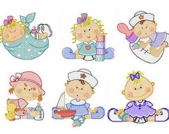 Baby Embroidery Machine Designs - Instant Donwload