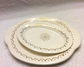 Edwin M Knowles China Company set of serving platters.