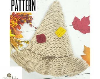 Crochet PATTERN | Scarecrow Hat Crochet Pattern | Crochet Scarecrow Hat | Halloween Crochet Pattern | Child and Adult Size Crochet Pattern