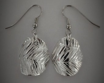 Silver earrings / fine silver / 999 silver