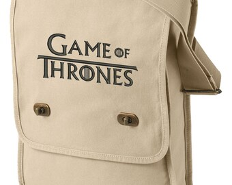 Game of Thrones Embroidered Canvas Field Bag