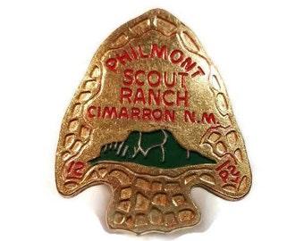 Philmont Scout Ranch Tie Slide Cimarron New Mexico Bolo Neckercheif Arrowhead