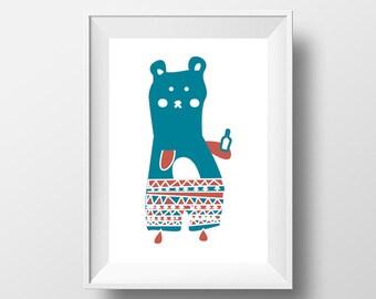 Bear Digital Illustration