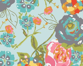 Garden Rocket Turquoise 'LillyBelle' by Bari J. - Art Gallery Fabric Quilting Cotton 1/2 Yard+