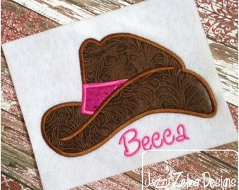 Cowboy Hat Applique embroidery Design - cowgirl Applique Design - cowboy Applique Design - hat Applique Design - cowboy hat Applique Design