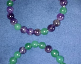 On Sale Today Amethyst and Green Adventurine bracelets