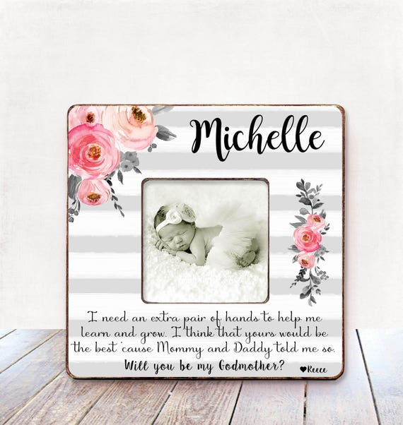 Will you be my godmother Godmother gift Personalized picture