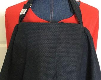 Breastfeeding nursing cover up apron like  hooter hider new print black print