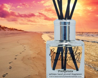 100ml Reed Diffuser, Memories from Cornwall Scent with natural reeds and Kraft Box - Hand Poured in Cornwall, Vegan Friendly, Auego™ base