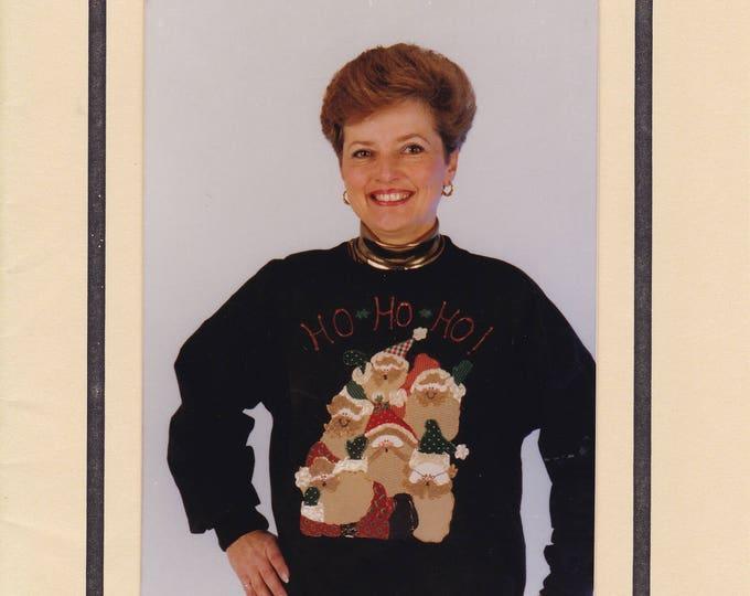 b43e84a69b54fe FREE US SHIP Craft Sewing Pattern Christmas Ho! Ho! Ho! Decorated Shirt  Santa