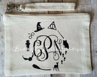Harry Potter Symbols Inspired Makeup Bag