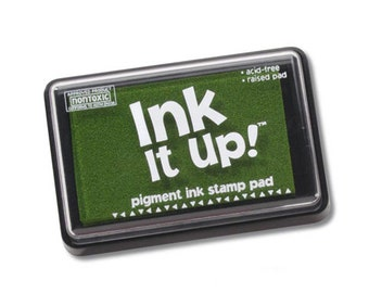 Tart Lime Green Ink It Up Pigment Ink Stamp Pad Scrapbooking or Card Making birthday cards crafts papercrafting rubber embossing stamping