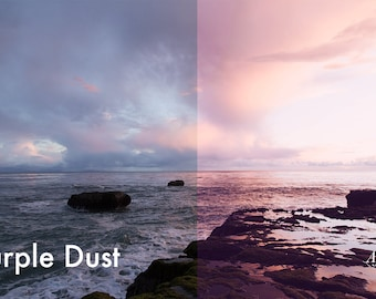 Purple Dust - Photoshop Action INSTANT DOWNLOAD