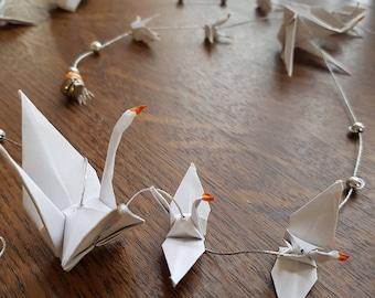 Garland white cranes