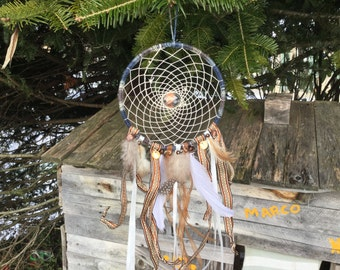 Dream catcher with Christmas colors