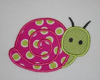 Polka Dot Snail Onesie, made to order