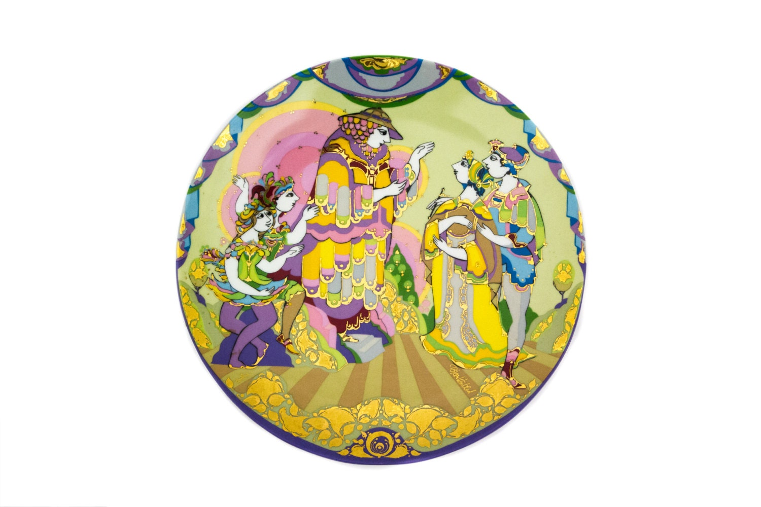 Rosenthal Bjorn Wiinblad The Magic Flute Large 13 Inch Wall