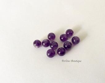 10 Amethyst round beads