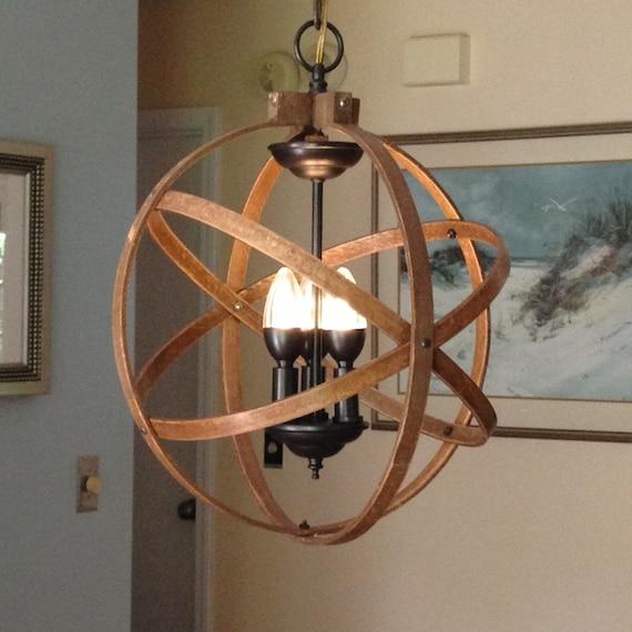 Unusual Kitchen Lighting: ORB CHANDELIER LIGHT 14 Atomic Light Fixture Industrial