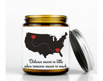 Long Distance Relationship Map, Long Distance Boyfriend Gift, Moving Away Gift, Going Away Gift, Personalized Long Distance Map. LDR Gift