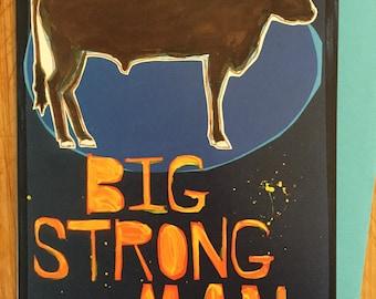 Big Strong Man Card
