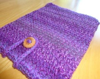 Crocheted iPad Cover - Tablet Sleeve - Crochet Cozy - Tablet Case - Tablet Cozy - Crochet Cover - Purple Cozy - Tablet Cover - Crochet Case