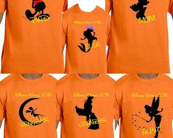 Disney world family shirts, Disney family shirts, Disney family trip, Disney family vacation, Personalized shirts